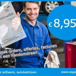 Garage software, garage programma, garage factuur software, software garage, autobedrijven software programma